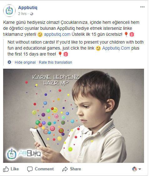 Appbutiq Facebook Post